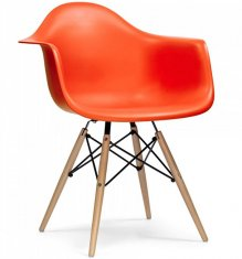 Стул Eames Style DAW Chair Orange